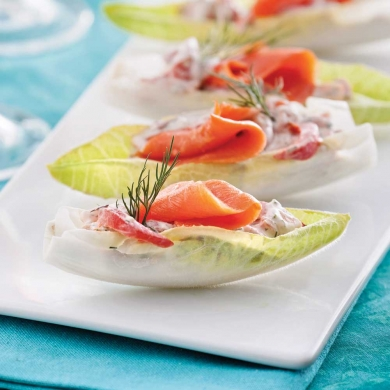 endives farcies au saumon fum entr es et soupes recettes 5 15 recettes express 5 15. Black Bedroom Furniture Sets. Home Design Ideas