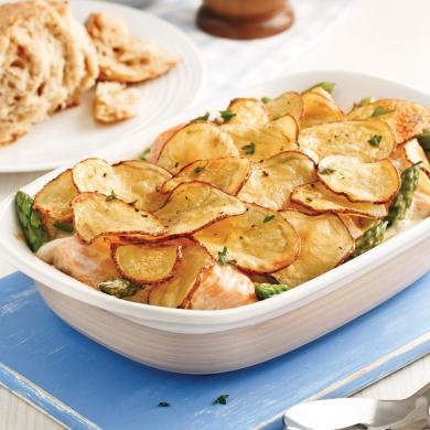 casserole de saumon asperges et pommes de terre soupers de semaine recettes 5 15 recettes. Black Bedroom Furniture Sets. Home Design Ideas