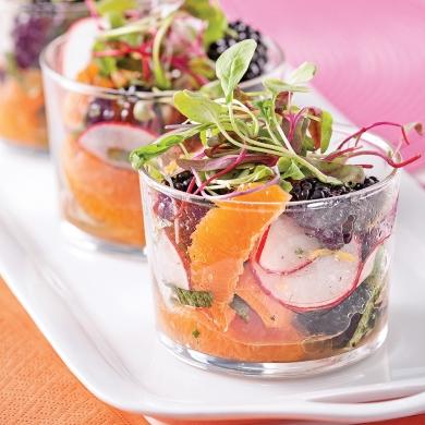 salade fra cheur en verrines entr es et soupes recettes 5 15 recettes express 5 15. Black Bedroom Furniture Sets. Home Design Ideas