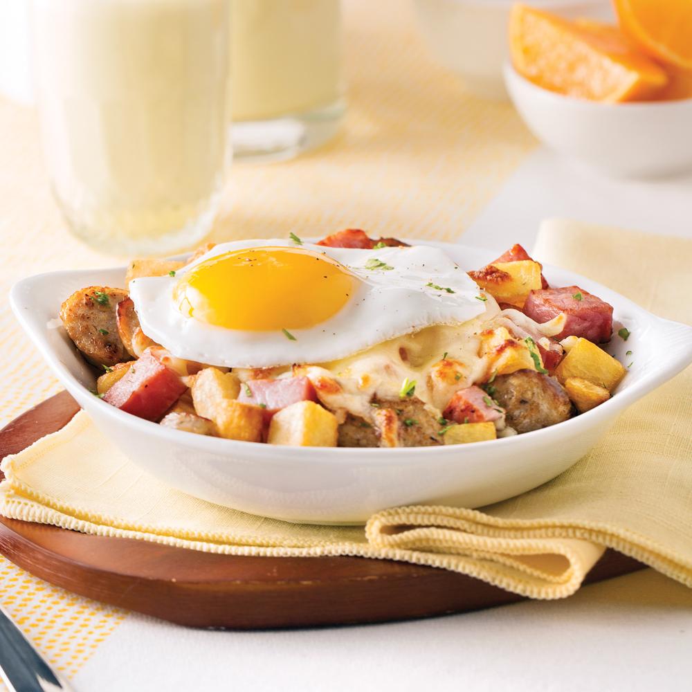 Cassolette paysanne au jambon et saucisses brunchs for Cuisine 5 15