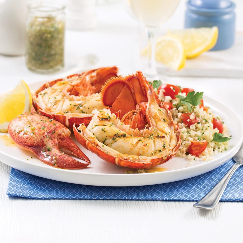 Homard grill aux herbes sal es soupers de semaine - Recette homard grille ...