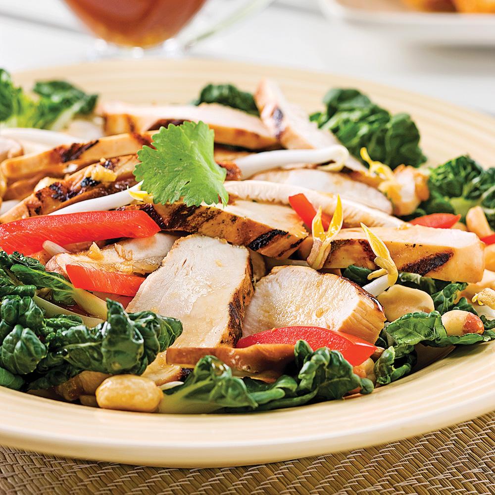 salade de poulet grill la tha recettes cuisine et nutrition pratico pratique. Black Bedroom Furniture Sets. Home Design Ideas