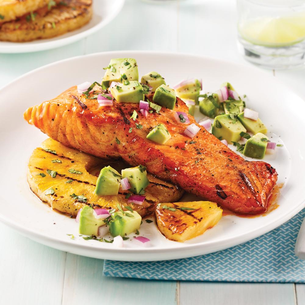 Saumon grill et salsa d 39 avocat soupers de semaine recettes 5 15 recettes express 5 15 - Sauce pour saumon grille barbecue ...