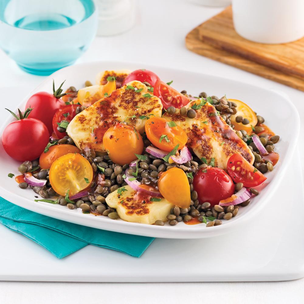 Salade aux lentilles et fromage grill soupers de for Cuisine 5 15
