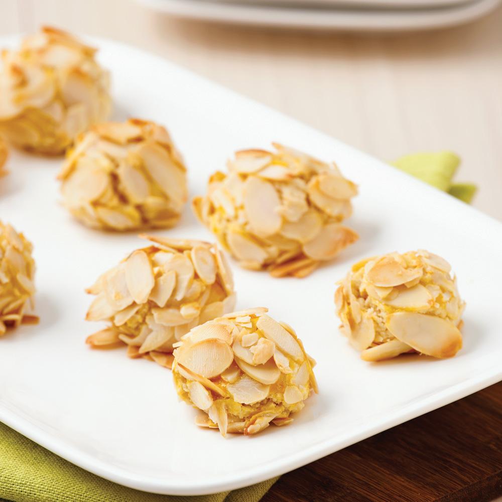 Bouch es amandes et orange faciles desserts recettes 5 for Petites entrees faciles