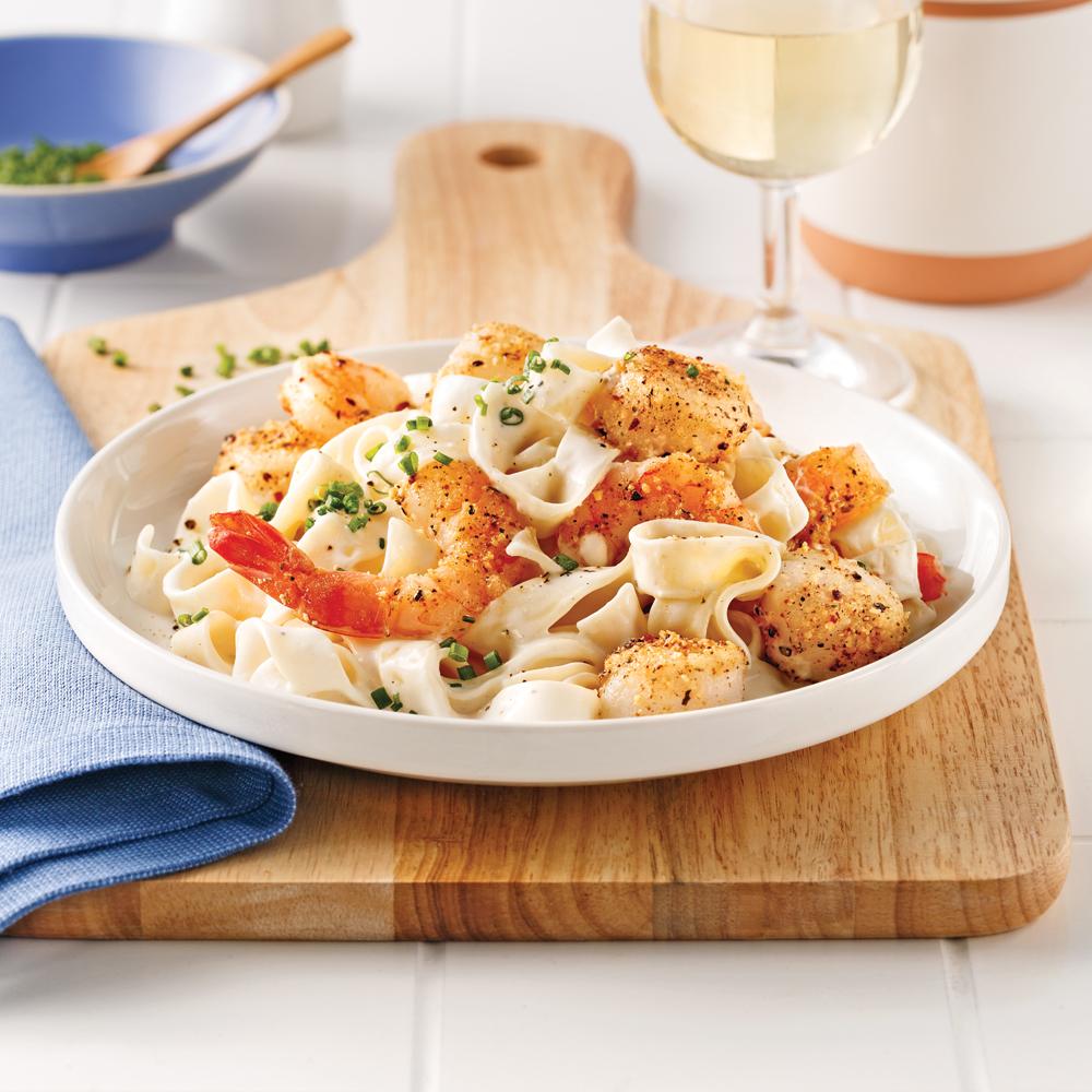 Tagliatelles aux fruits de mer soupers de semaine recettes 5 15 recettes express 5 15 - Tagliatelles aux fruits de mer recette italienne ...