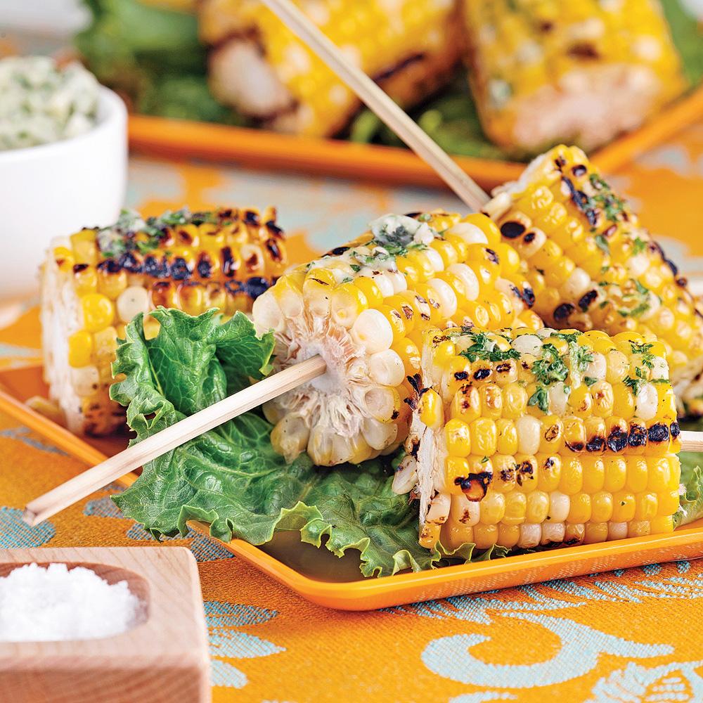 maïs grillés sur brochettes - entrées et soupes - recettes 5-15