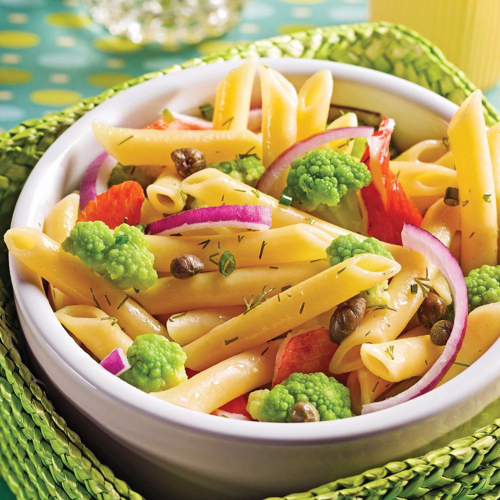 salade de pâtes à la goberge soupers de semaine recettes 5 15