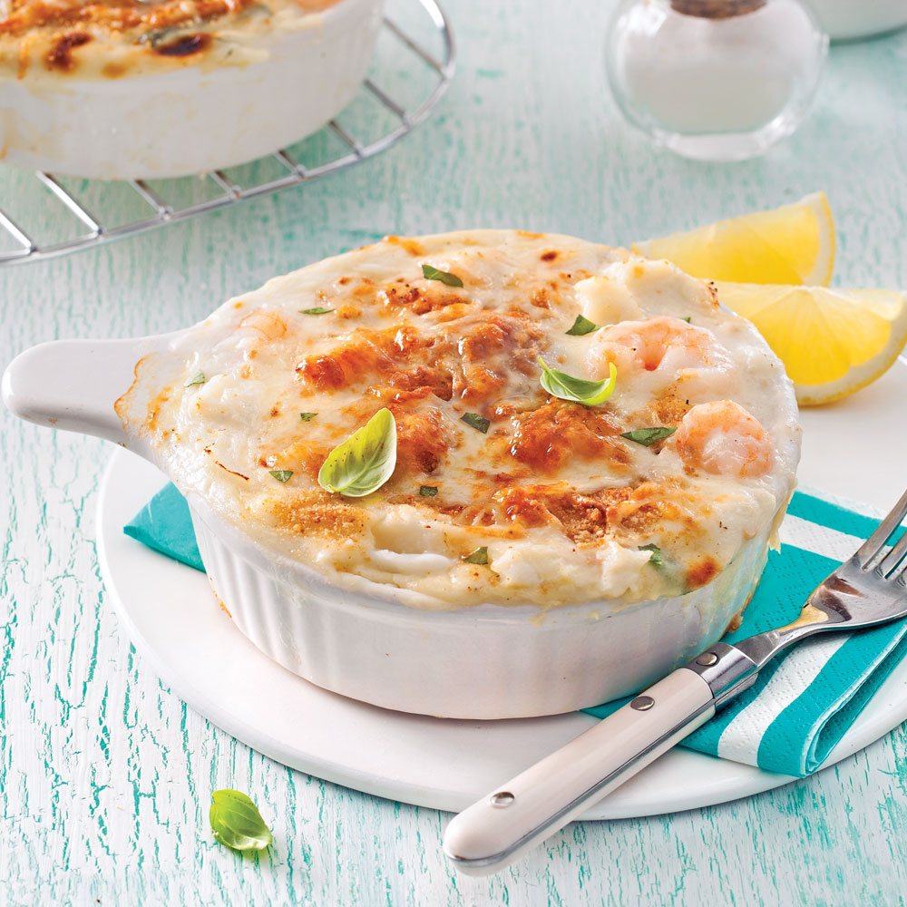 gratin de fruits de mer au gruy re soupers de semaine recettes 5 15 recettes express 5 15. Black Bedroom Furniture Sets. Home Design Ideas