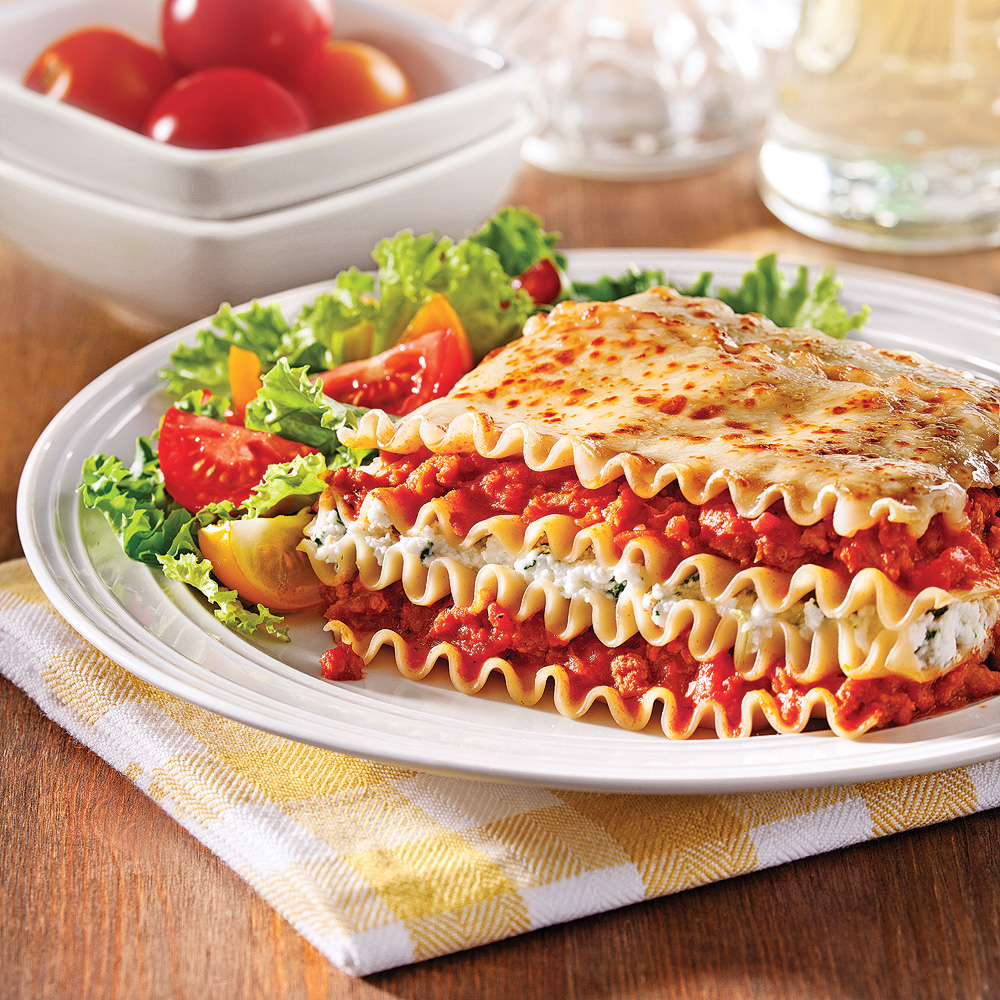 lasagne aux saucisses et ricotta soupers de semaine recettes 5 15 recettes express 5 15. Black Bedroom Furniture Sets. Home Design Ideas