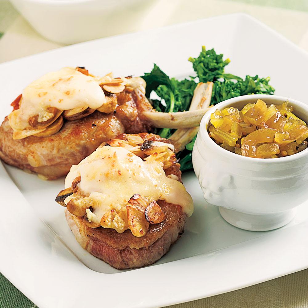 C telettes de porc gratin es pour recevoir recettes 5 15 recettes express 5 15 pratico - Comment cuisiner le porc ...