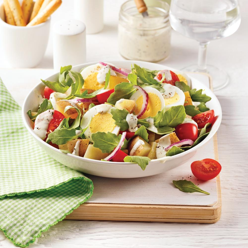 salade de pommes de terre sauce aux pinards soupers de semaine recettes 5 15 recettes. Black Bedroom Furniture Sets. Home Design Ideas