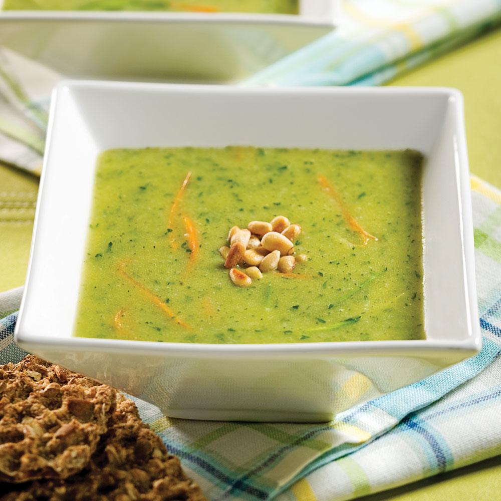Potage de courgettes entr es et soupes recettes 5 15 for Cuisine 5 15