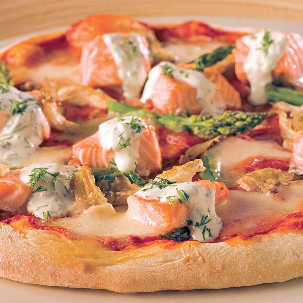 Pizzas au saumon