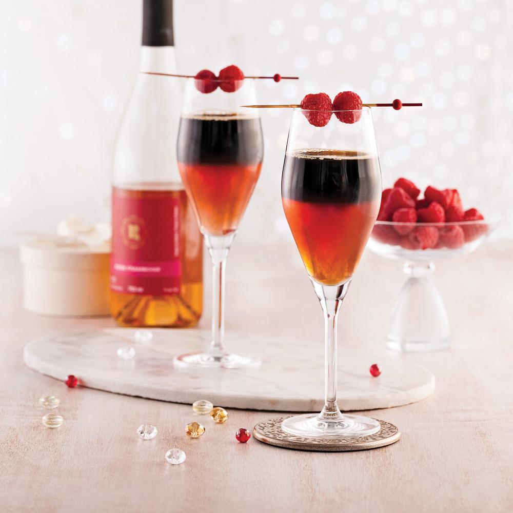 Cocktail au cidre de framboise et bière noire - Recettes 5 ...