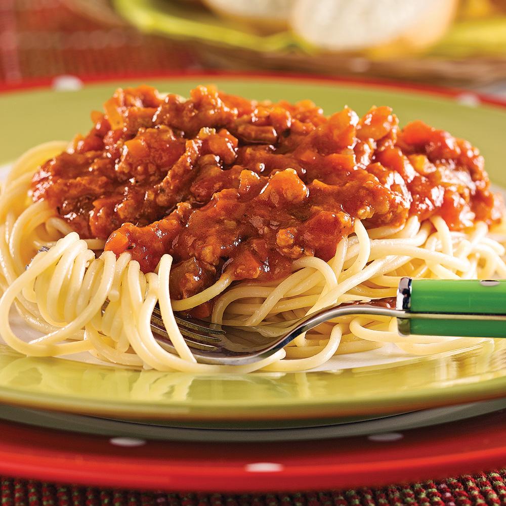 spaghetti sauce la viande et aux l gumes soupers de semaine recettes 5 15 recettes. Black Bedroom Furniture Sets. Home Design Ideas