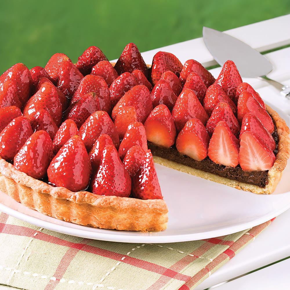tarte chocolat et fraises desserts recettes 5 15 recettes express 5 15 pratico pratique. Black Bedroom Furniture Sets. Home Design Ideas