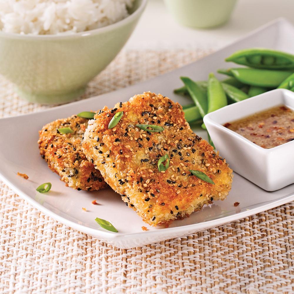 Croustillants de tofu au s same soupers de semaine - Cuisiner le tofu ferme ...