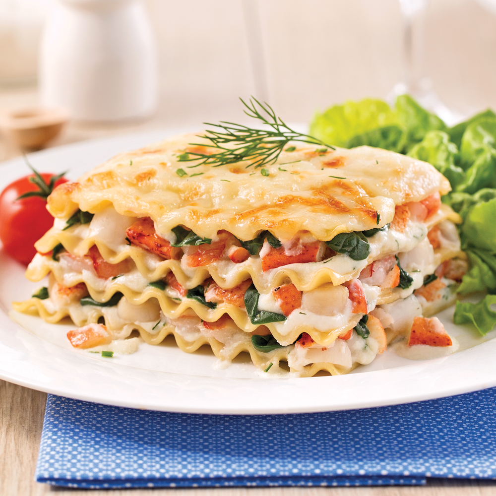 lasagne aux fruits de mer version mijoteuse soupers de semaine recettes 5 15 recettes. Black Bedroom Furniture Sets. Home Design Ideas