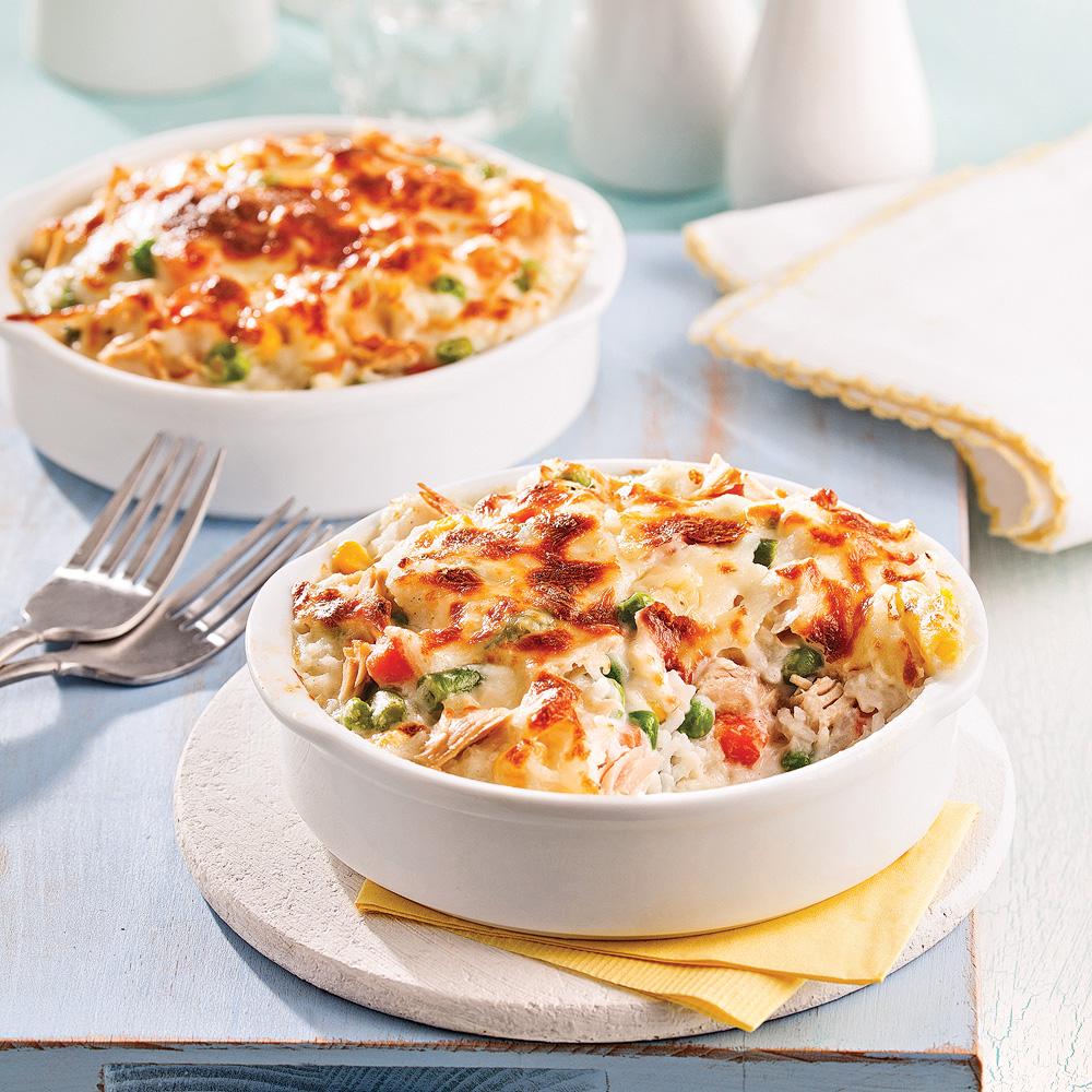 casserole de l gumes riz et thon soupers de semaine recettes 5 15 recettes express 5 15. Black Bedroom Furniture Sets. Home Design Ideas