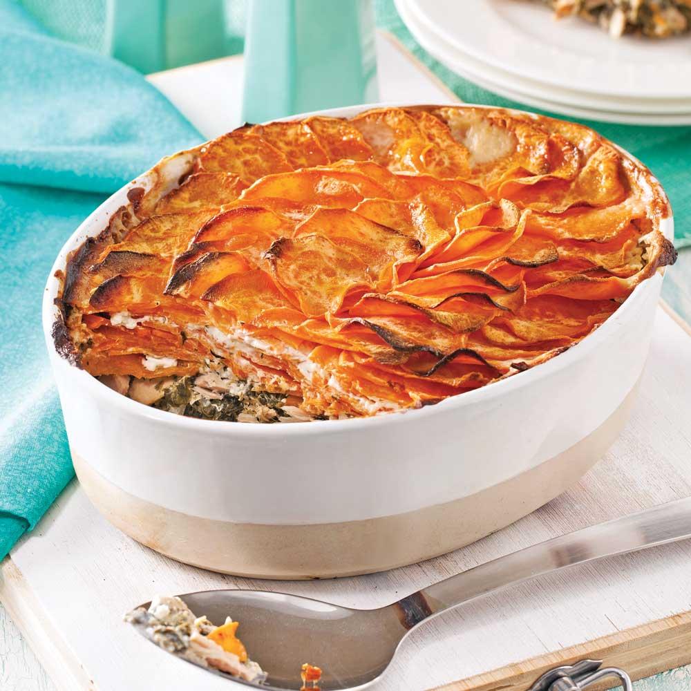 Gratin de patates douces thon et pinards soupers de - Idee recette patate douce ...