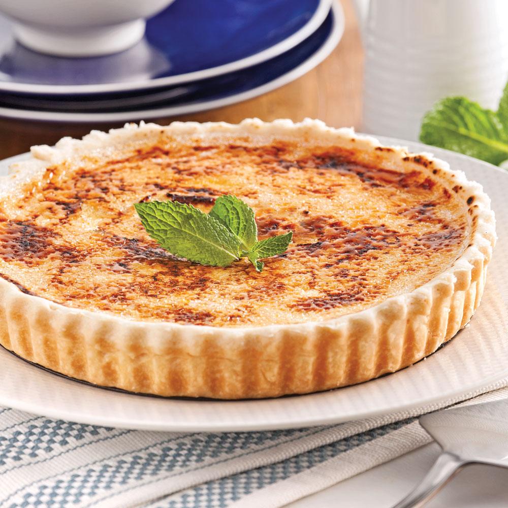 Tarte la cr me br l e au parfum de bailey 39 s desserts recettes 5 15 recettes express 5 15 - Tarte aux poireaux sans creme ...