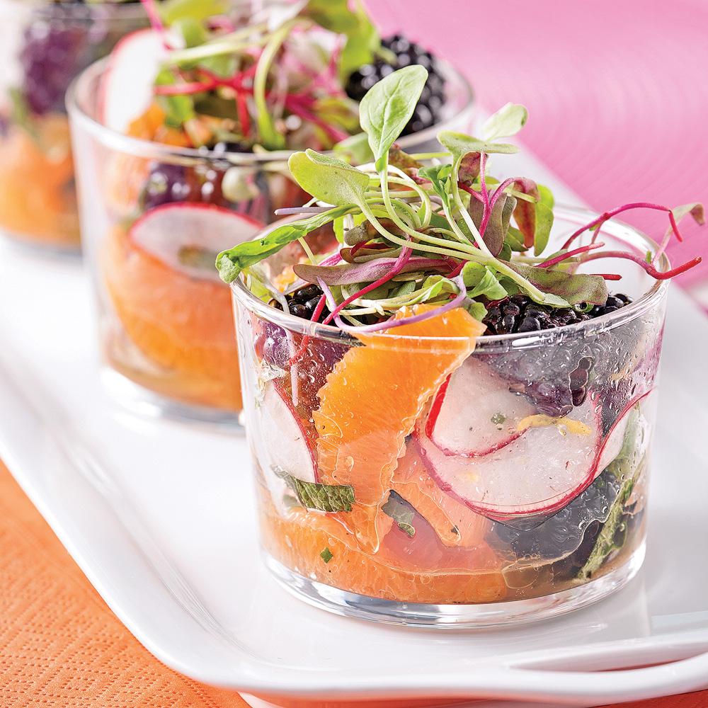 salade fra cheur en verrines entr es et soupes. Black Bedroom Furniture Sets. Home Design Ideas