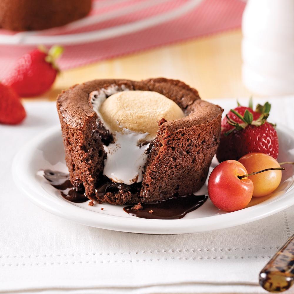 petits g teaux au chocolat et guimauve desserts recettes 5 15 recettes express 5 15. Black Bedroom Furniture Sets. Home Design Ideas