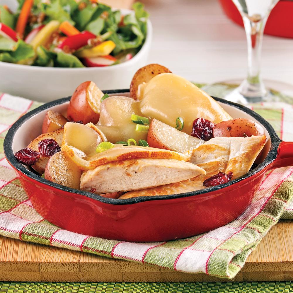 Raclette au poulet dans le po lon recettes cuisine et nutrition pratico pratique - Quantite pomme de terre raclette ...
