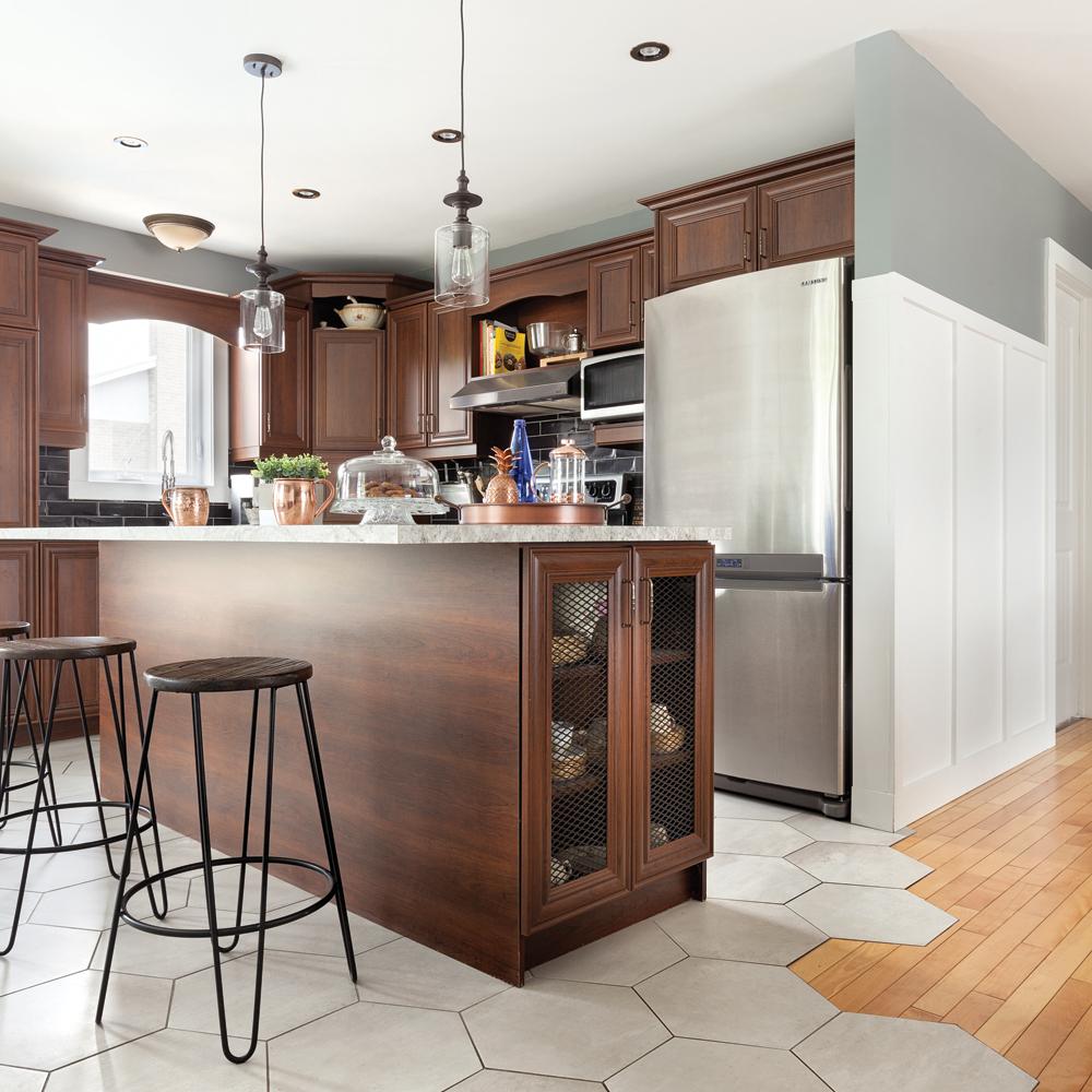 Salon Et Cuisine Aire Ouverte intégrer la céramique dans une aire ouverte - salon