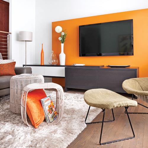 Couleur Orange Pour Salon
